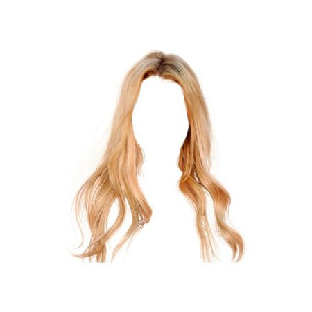 blonde doll hair png