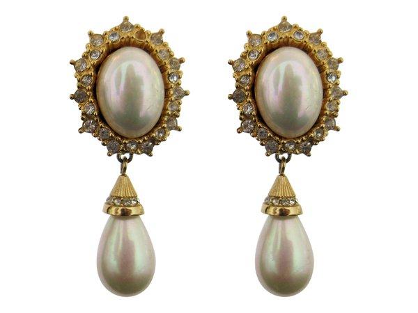 vintage earrings dior