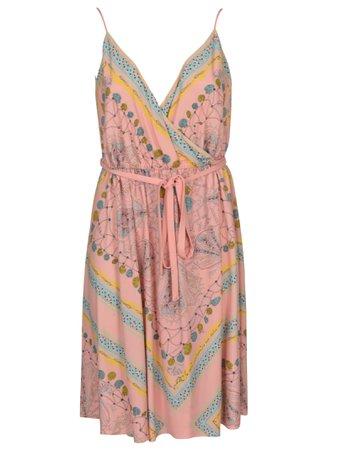 V-Neck Printed Sleeveless Dress