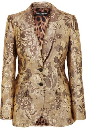 Dolce & Gabbana   Metallic brocade blazer   NET-A-PORTER.COM