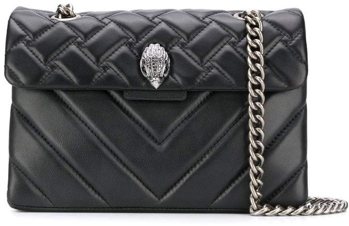 London quilted embellished shoulder bag