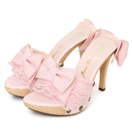 jesus diamante rose mules