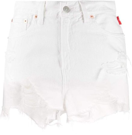 Denimist distressed denim shorts