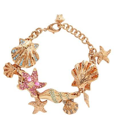 Versace - Embellished charm bracelet | Mytheresa
