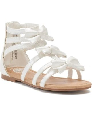 white gladiator sandals girls - Google Search