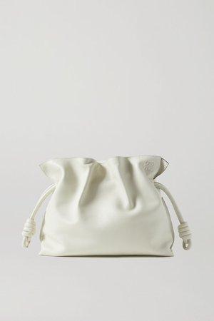 Flamenco Leather Clutch - Off-white