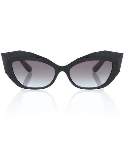 Logo Plaque acetate sunglasses