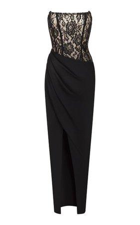 Draped Lace And Crepe Maxi Dress By Rasario | Moda Operandi