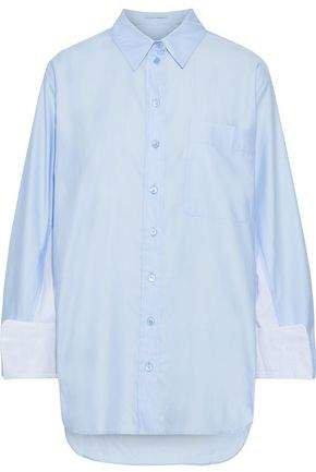 Paneled Cotton-poplin Shirt