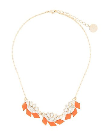 Shop orange & gold Anton Heunis crystal embellished necklace with Express Delivery - Farfetch