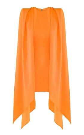 Tucker Cape-Effect Crepe Mini Dress by Alex Perry | Moda Operandi