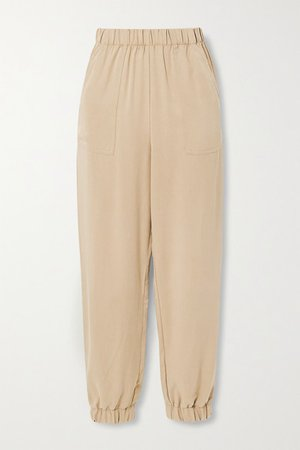 Montana Tencel-twill Tapered Pants - Sand