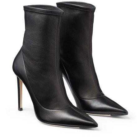 Black Stretch Nappa Boots |BRIN 100| Autumn Winter 19| JIMMY CHOO