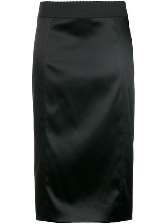 Dolce & Gabbana Satin Skirt - Farfetch