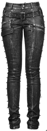 Leather Goth-Steampunk Pants, Women's