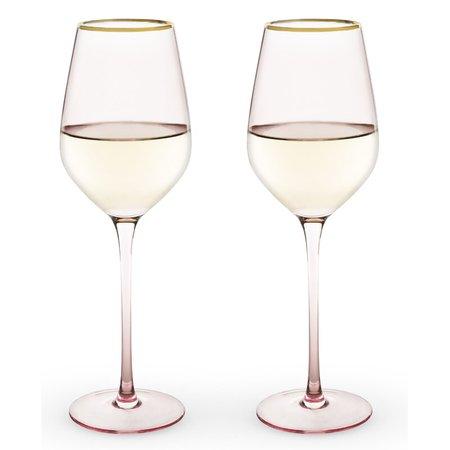 Twine Rose 14 oz. Crystal White Wine Glass | Wayfair