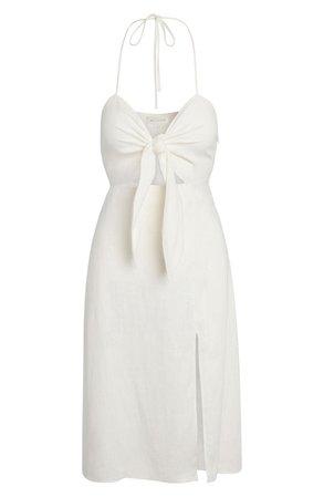 Tie Front Midi Dress | Nordstrom