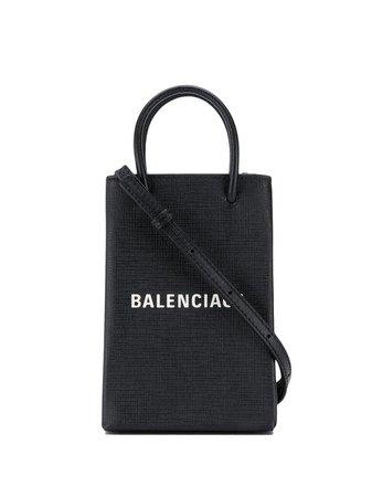 Balenciaga Shopping Phone Bag On Strap - Farfetch