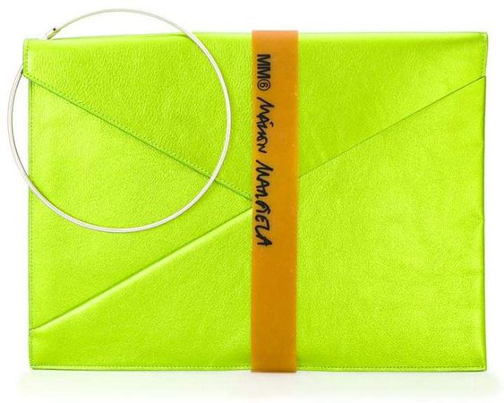 metallic envelope clutch