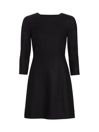 Theory Kamillina Virgin Wool Shift Dress on SALE | Saks OFF 5TH