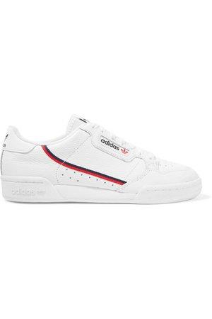 adidas Originals   Continental 80 grosgrain-trimmed textured-leather sneakers   NET-A-PORTER.COM