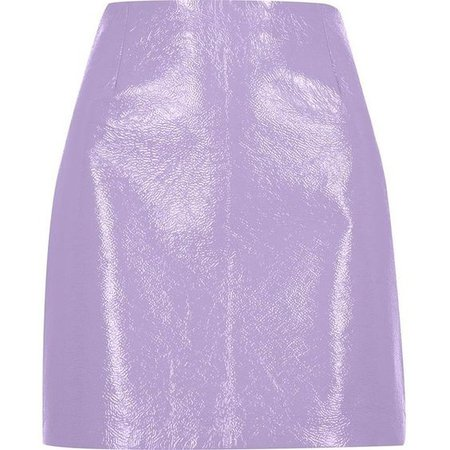 Purple/Lilac Leather Skirt