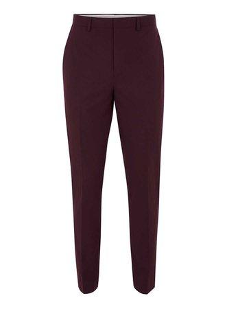 maroon suit pants