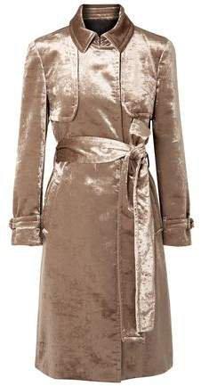 Cotton-blend Velvet Trench Coat