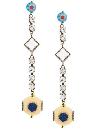Gold Forte Forte Embellished Drop Earrings | Farfetch.com