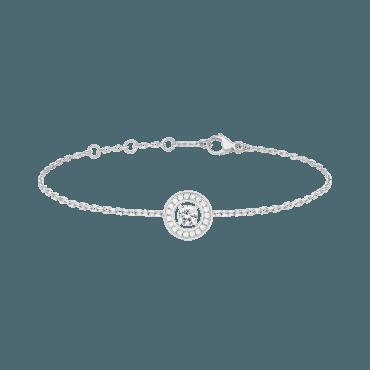 BOUCHERON, AVA ROUND BRACELET Bracelet set with a round diamond and paved diamonds, in white gold
