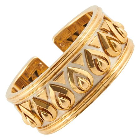 Cartier Gold Cuff Bracelet For Sale at 1stDibs