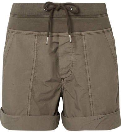 Cotton-blend Poplin Shorts - Army green