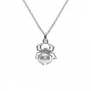 Orb Spider Necklace Silver Goth Emo Alternative