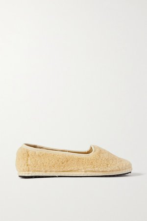 Shearling Slippers - Cream