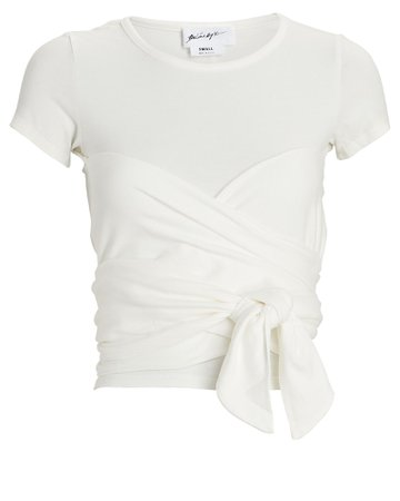 The Line By K Jeanne Ruched T-Shirt | INTERMIX®