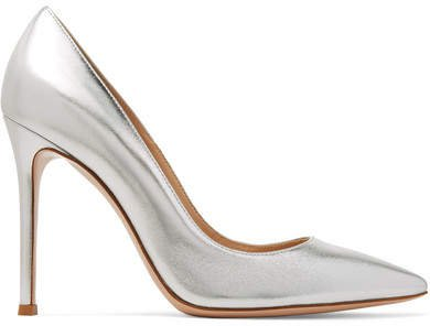 105 Metallic Leather Pumps - Silver