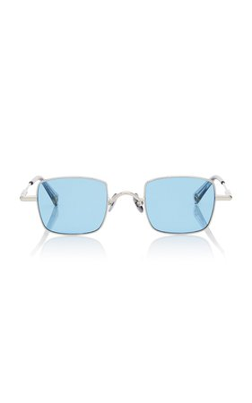 Peter and May Petit Animal Square-Frame Titanium Sunglasses