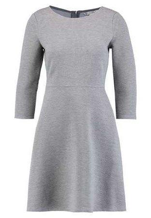 TOM TAILOR DENIM SKATER DRESS ROUND - Jersey dress - middle grey melange - Zalando.co.uk