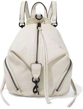 Julian Mini Convertible Pebbled-leather Backpack