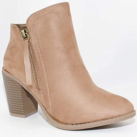 Amazon.com | TRENDSUP Collection Women's Fashion Suede Booties | Ankle & Bootie
