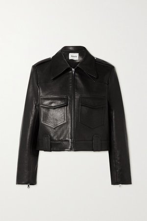 Corey Leather Biker Jacket - Black