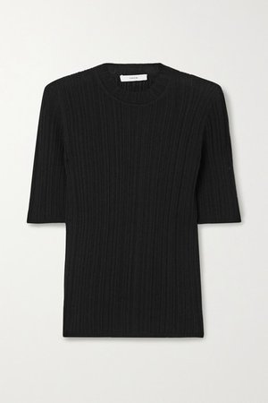 Ribbed Cotton Top - Black