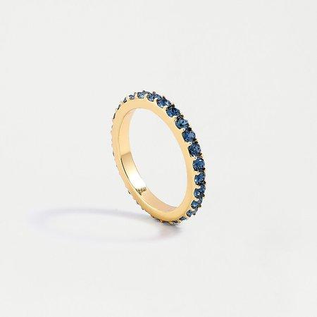 J.Crew: Gold Pavé Stacking Ring