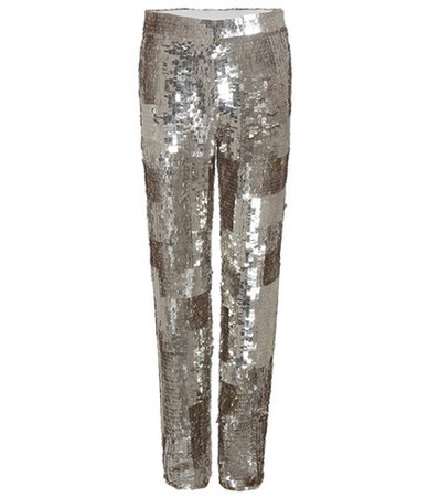Sequinned trousers