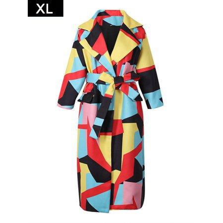 PROKTH - PROKTH Women Lapel Long Sleeve Colorful Coat - Walmart.com - Walmart.com
