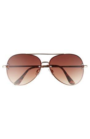 BP. 60mm Oversize Mirrored Aviator Sunglasses | Nordstrom