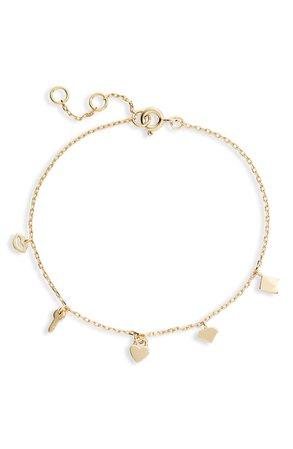 Adina's Jewels Multi Charm Bracelet | Nordstrom