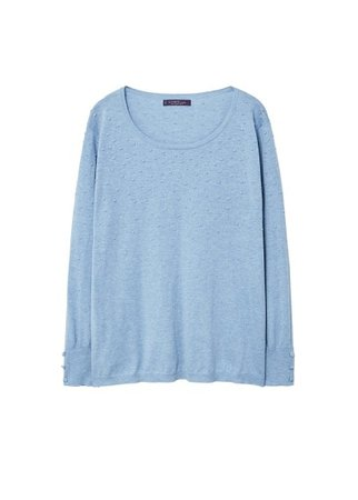 Violeta BY MANGO Textured fine-knit sweater