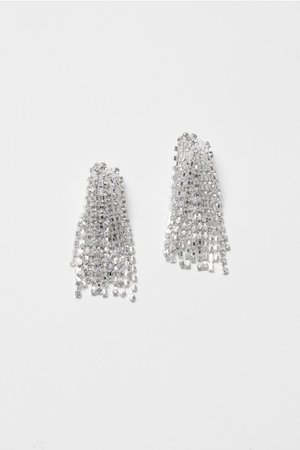Silver-plated Clip Earrings - Silver-colored - Ladies | H&M US