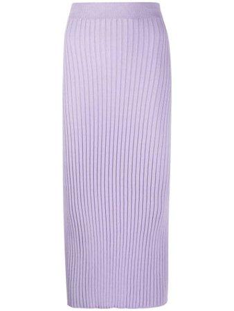 Purple MM6 Maison Margiela rear-slit knitted skirt - Farfetch